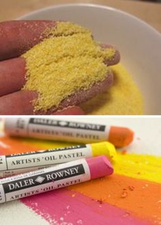 'How to clean your oil pastels...!' (via Rainbow Art Gallery)