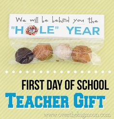 """Donut hole gift - We will be behind you the """"hole"""" year."""