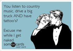 Mmmm love that I finally got him listening to country!!!