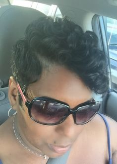 Side view of my new pixie cut. Love it lots!!
