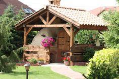 Zadaszona+altana+chroni+piec+przed+deszczem+i+śniegiem Gazebo, Outdoor Structures, Cabin, House Styles, Garden, Grill, Home Decor, Google, Kiosk