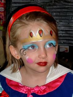 Snow White party... face painting? Diy Projects For Kids, Diy For Kids, Snow White Makeup, White Face Paint, Extreme Makeup, Snow White Birthday, Kids Makeup, 1st Birthday Parties, Kid Parties