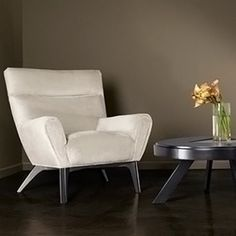 Armen Living Laguna Contemporary Chair in Beige Fabric