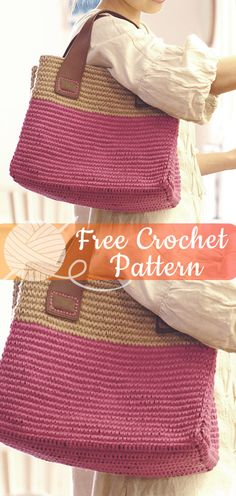 Crochet Bag Handles Ideas Free Pattern 47 Ideas For 2019 Crochet Handbags, Crochet Purses, Diy Crochet, Crochet Crafts, Loom Knitting Patterns, Crochet Patterns, Crochet Shell Stitch, Crochet Accessories, Crochet Fashion