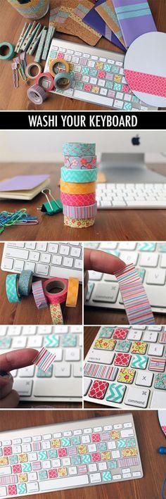 Washi/masking tape DIY