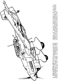 airplanes of the second world war coloring book dover publications