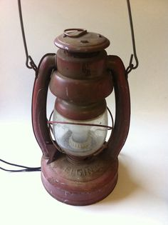 Antique Elgin Lantern Converted To Lamp by RustyWhistle on Etsy