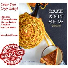 Bake Knit Sew (Anchor and Bee, 2014) is a seasonal approach to baking, knitting, and sewing. With 13 recipes, 7 knitting patterns, and 5 sewing projects. Designs, recipes, and photography by award-winning blogger Evin Bail O'Keeffe. Her blog EvinOK won best craft blog in Ireland for 2014. Buy signed paperback from publisher: http://anchorandbee.com