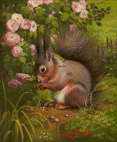 Artist: Yana   Movchan, Title: Garden Squirrel - click to close window