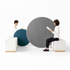Rolling Workspace: a space installation designed by #Nendo for @orgatec the  trade fair for office furniture held in Cologne Germany.  The circular shape creates an environment that will encourage creativity! #archiproducts