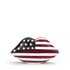 I would love this Lulu Guinness Stars and Stripes snakeskin clutch!