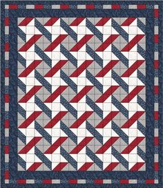 NEW Stars and Stripes Quilt Pattern five one-yard cuts Nice for Quilt of Valor Flag Quilt, Patriotic Quilts, Star Quilts, Easy Quilts, Quilt Blocks, Star Blocks, Quilt Top, Stripe Quilt Pattern, Striped Quilt