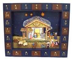 Kurt Adler Wooden Nativity Advent Calendar with 24 Magnetic Figures - Build the manger scene over the days leading up to Christmas! Nativity Advent Calendar, Advent Calendars For Kids, Christmas Calendar, Advent Calenders, Christmas Countdown, German Christmas, Christmas Nativity, Christmas Ideas, Christmas Inspiration