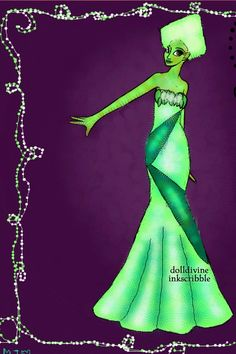 Peridot Shine~Request for Aqualila by Mytherva ~ Neptune's Daughter Mermaid Dress Up