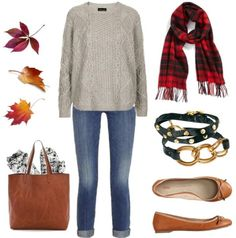 Plaid scarves for this fall