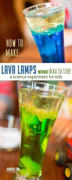 Want to know how to make a lava lamp without Alka Seltzer tablets? I often don't have Alka Seltzer on hand - but always have this alternative! Science Crafts, Science Activities For Kids, Cool Science Experiments, Preschool Science, Stem Activities, Kids Crafts, Science Projects, Kid Experiments At Home, Kid Science