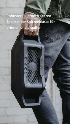 Robuster Sound, der begeistert. #machlaut #followyoursound ✓ Robuster Bluetooth-Stereo-Speaker der Spitzenklasse für drinnen und draußen ✓ Strahlwassergeschützt nach IPX5, dickwandiges, flexibles Gehäuse fängt Stöße ab ✓ Bluetooth mit aptX® für Musikstreaming in CD-ähnlicher Qualität von Deezer, Spotify, Youtube, Apple Music etc. ✓ Leistungsstarkes Stereo-System mit zwei Hochtönern, einem Subwoofer und zwei passiven Treibern