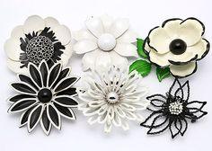 Alix's vintage enamel pins   via Modern Kiddo