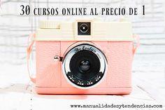 30 cursos DIY al precio de 1www.manualidadesytendencias.com #manualidades #diy #curso #online #fotografía