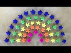 Origami Stern basteln mit Papier - Geschenke selber machen - DIY - Ideen - 3D Regenbogen Deko - YouTube