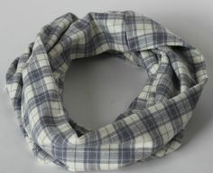 This grey plaid is one of my favorite snuggly fabrics and makes a super cozy infinity scarf. All sizes available! Get yours in time for the holiday season!