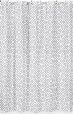 Diamond Gray and White Shower Curtain by Sweet Jojo Designs - http://www.childrensbeddingboutique.com/diamond-gray-and-white-shower-curtain.aspx