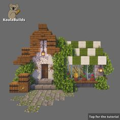 Minecraft Little, cute GreenHouse made by me. Tap to see more of my build tutorials Minecraft House Plans, Minecraft Farm, Minecraft Cottage, Minecraft House Tutorials, Minecraft Castle, Minecraft Medieval, Cute Minecraft Houses, Minecraft House Designs, Minecraft Construction