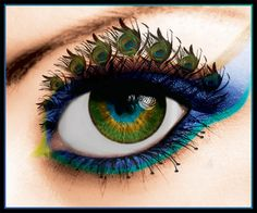 I think this eye is really creative.. I like the idea of pea cock feathers being the eye lashes