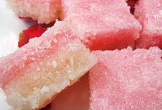 Coconut ice. Easy to make and so pretty on a Valentine sweet table or packaged as gifts.