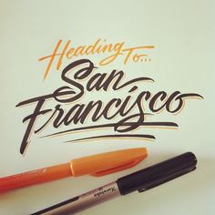 Bon voyage, lettering by matthewtapia on Instagram.