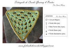 TRIANGULO DE CROCHE GRANNY BLOCOS DE 4 PONTOS (TRIANGLE GRANNY)