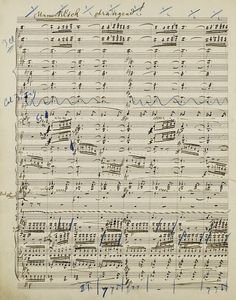 Gustav Mahler: symphony no.3 - an original handwritten manuscript by the composer was sold at auction for a record £4.5M