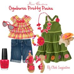 """Gymboree Pretty Posies Set 2"" by fallinlove82603 on Polyvore"