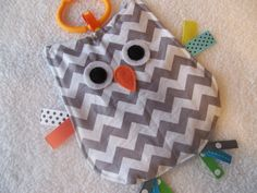 Gray+Chevron+Crinkle+Crackle+Sensory+Owl+Toy+by+MBDesigns+on+Etsy,+$8.99