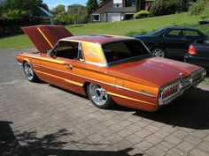 1965 Ford Thunderbird...orange and cool