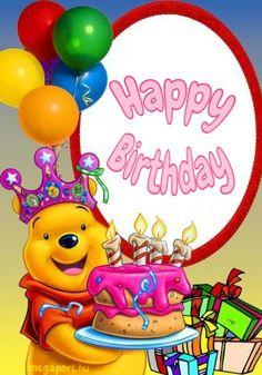 Happy Birthday Disney, Funny Happy Birthday Images, Happy Birthday Wishes Cake, Birthday Wishes For Kids, Birthday Wishes Greetings, Happy Birthday Frame, Happy Birthday Video, Happy Birthday Photos, Happy Birthday Celebration