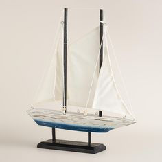 Wooden Sailboat on Stand | World Market