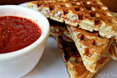 A New Twist on Waffles: Pizza! - MOMables® - Healthy School Lunch Ideas