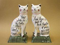 Staffordshire Ceramic Cats