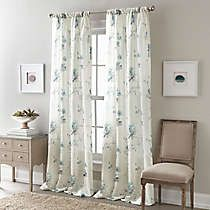 Softly tinted, scattered flowers grace the Zen Floral Rod Pocket Semi-Sheer Window Curtain Panel, giving it enough style presence to stand on its own or layer behind heavier draperies. Paint Colors For Living Room, Room Paint, Living Room Decor, Bedroom Decor, Master Bedroom, Dining Room, Home Curtains, Window Curtains, Flower Curtain