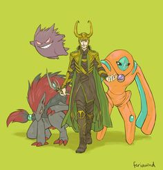 9 picture if the avenger had pokemon
