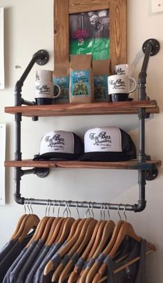 #ebay #Clothes #Hanger #Garment #Rack #Rail #Hanging #Organizer #Closet #Laundry #Room #2 #Shelf #Handmade