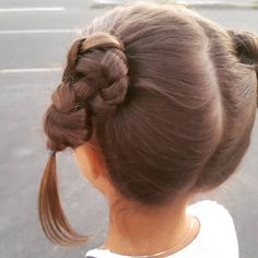 Пучки из кос с узелками Braided buns with knots