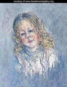 Portrait of a girl - Claude Oscar Monet - www.claudemonetgallery.org