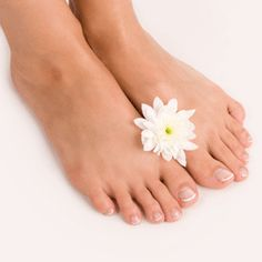 Natural pedicure:  very pretty and will look lovely in sandals.