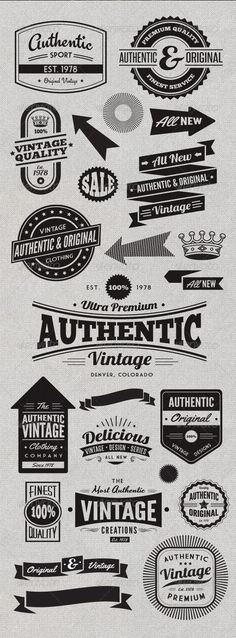 Vintage/hipster Style Badges and Logos