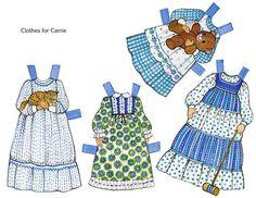 Gingham Paper Dolls