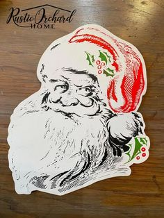 Make your own DIY Santa Door Hanger using the Chalk Couture holiday suite.  This is the perfect Vintage Christmas DIY holiday decor idea for all crafting levels!