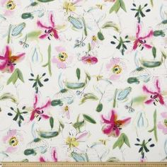 Fabric By the Metre From Spotlight - Widest Affordable Range Fabric Yarn, Cotton Fabric, Table Covers, Lily, Paper, Floral, Spotlight, Cotton Textile, Table Clothes