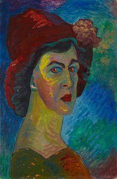 Marianne von Werefkin (1860-1938) – Selbstbildnis I (ca 1910) Städtische Galerie im Lenbachhau (Allemagne)